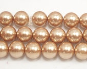 8mm Champagne Glass Pearls 5 pieces