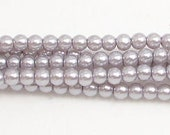 3mm Gray Glass Pearls TWO strands