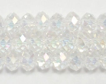 5x8mm Clear AB Chinese Rondelle Crystals (50)