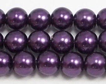 8mm Purple Glass Pearls Trial Size Packs
