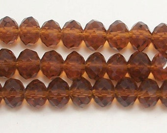 5x8mm Mocha Chinese Crystal  Rondelle Beads (20)