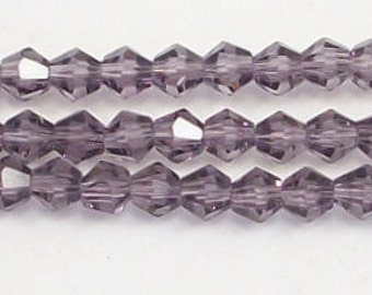 4mm Purple Chinese Crystal  Bicone Beads Loose (50)