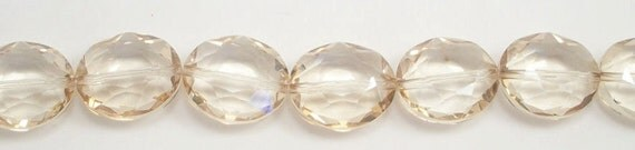 18x25mm Dark Yellow Chinese Oval Crystal Beads (8)