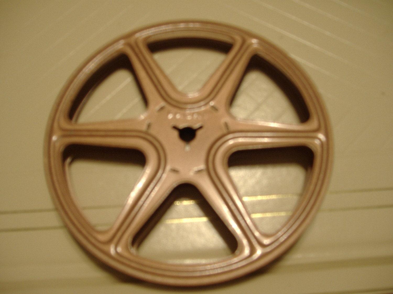 vintage 8mm empty movie film reel amp metal case from