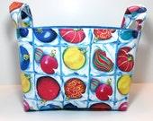 Christmas Fabric Storage Basket/Organizer Bin  - Christmas Ornament Box