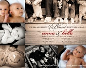 Birth Announcement - Photo Collage