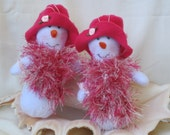 Breast Cancer Awareness gifts, handmade snowman