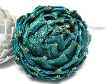 peacock blue collectible Christmas ornament
