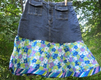 Upcycled girls skirt