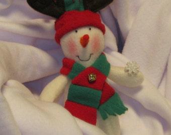 unique christmas snowman ornament, reindeer,
