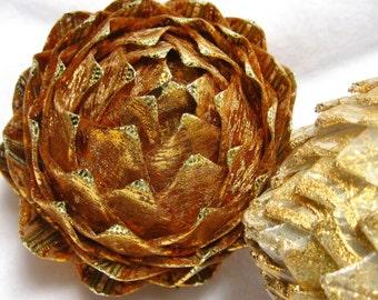 unique gold Christmas decoration, holiday keepsake pine cone
