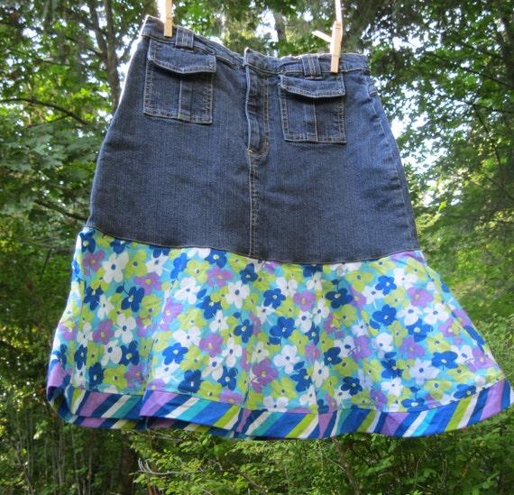 Upcycled girls skirt