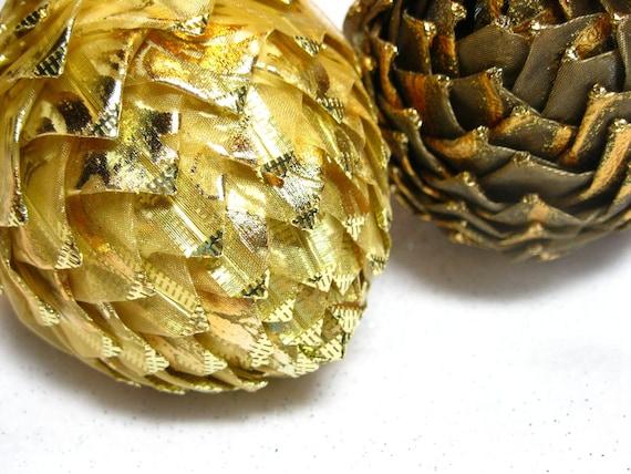 unique gold ornament, keepsake pine cone