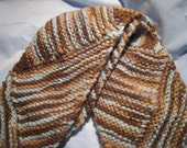 Diagonal Striped Knitted Scarf