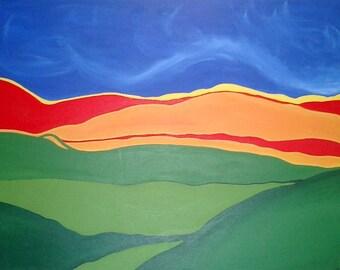 Acrylic Landscape Art Print