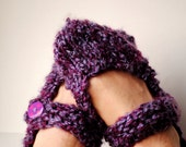 Maryjanes Slippers Hand knit Size M