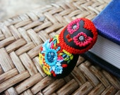Fancy Embellished Matryoshka Polymer Clay Pendant