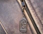 St Christopher Bronze Medal Zipper Pull