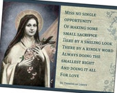 St. Therese Inspirational Quote Magnet