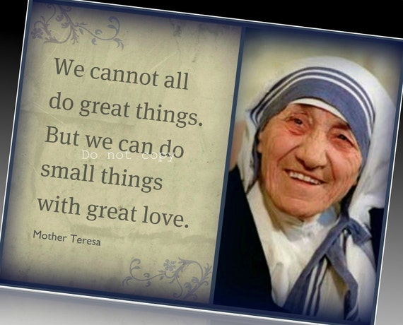 Mother Teresa:  Inspirational Magnet  Quote