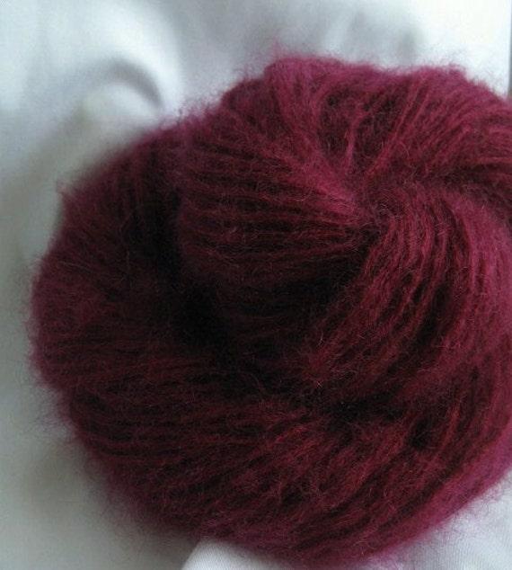 Destash SALE Plum Mohair Super Fuzz Upcycled Yarn 180 Yards