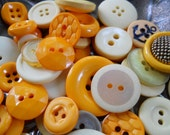 50pc. Hand-dyed Mustard seed button mix