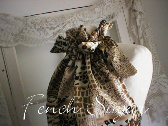 ON HOLD for JESS French Sugar Couture Parisian Leopard Ruffle Halter Top