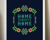 Home Sweet Home giclee art print 12x16