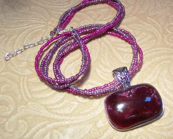 Purple Grape Chill Necklace (Retired Lia Sophia Grape Chill)