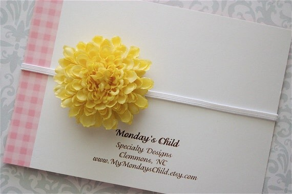 Flower Headband Buttercup Blossom - Newborn Baby Headbands to Adult