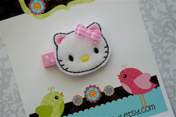 Hello Kitty Hair Clip - Felt Hello Kitty Hair Clip