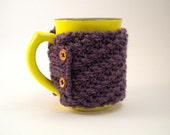 NON-SLIP Plum Coffee Cup Cozy - Reserved for Kris