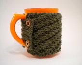 NON-SLIP Hunter Green Colored Coffee Cup Cozy