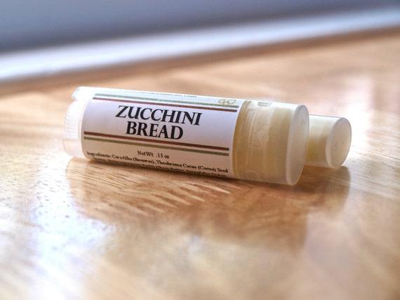 Zucchini Bread Lip Balm, oval tube lip balm, dessert lip balm, natural lip balm, spice