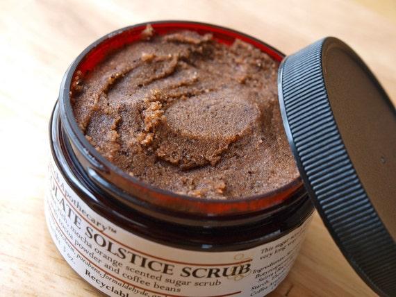 Sugar Body Scrub Chocolate Solstice antioxidant mocha coffee orange