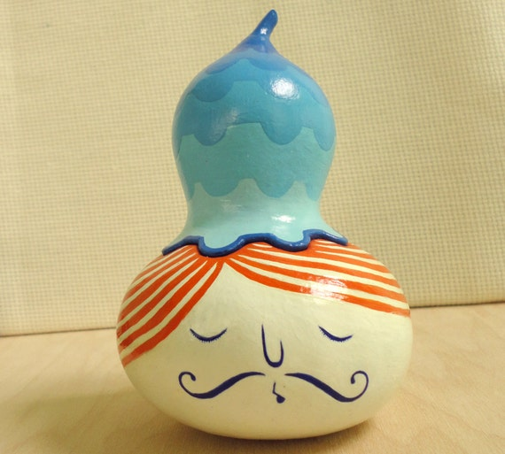 Hand painted gourd 04