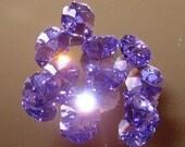 10 Violet Octagon Crystals -14mm