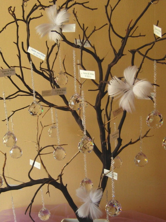 Manzanita Crystal Sun-catcher Favor Tree and Centerpiece