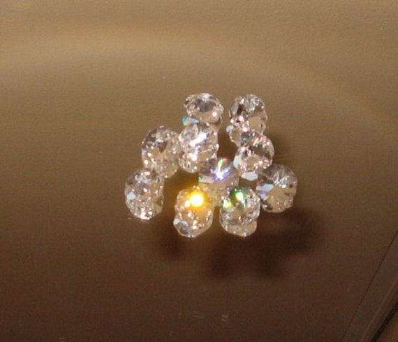 Crystal Octagon Clear Beads - Ten 14mm