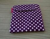 iPad case/sleeve - Purple Polka Dot
