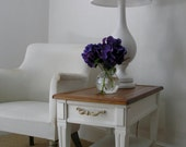 Side Table with Wooden Top
