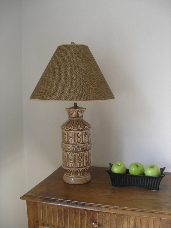 Brown Mid Century Lamp