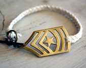 Military rank braided - bracelet