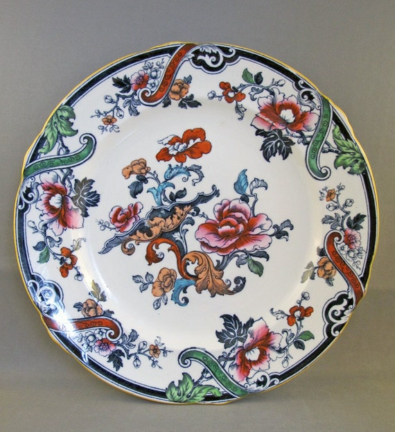 CLEARANCE Royal Cauldon Plate Transferware  Blue Red from England