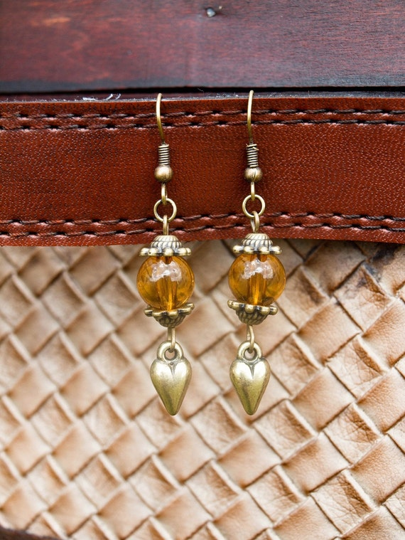 autumn love earrings