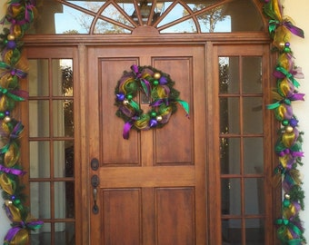 18 ft Mardi Gras Garland from New Orleans mesh