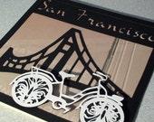 San Francisco bicycle golden gate bridge card