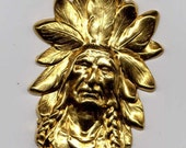 2 Indian Head with Headress Stamping