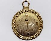 6 Pocket Watch Brass Metal Stampings