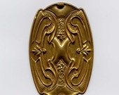 Large Art Nouveau-Deco Plaque Brass Metal Stamping